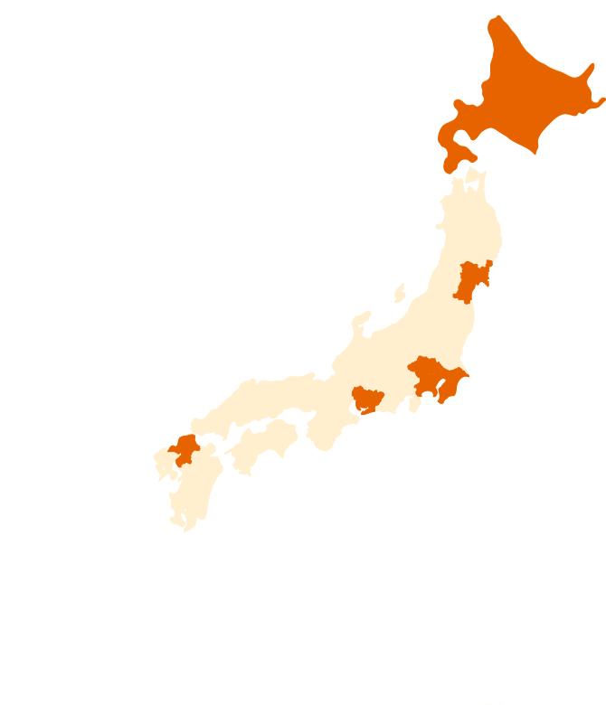 園から仕事を探す 日本地図